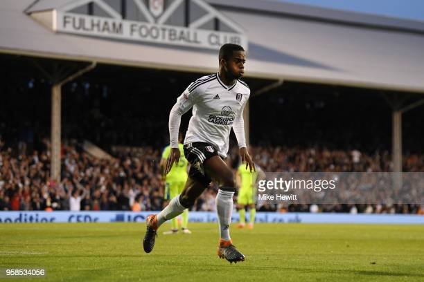 Ryan Sessegnon of Fulham celebrates scoring his sides first goal during the Sky Bet Championship Play Off Semi Final second leg match between Fulham...