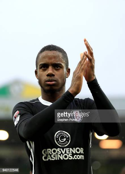 Ryan Sessegnon of Fulham celebrates victory after the Sky Bet Championship match between Norwich City and Fulham at Carrow Road on March 30 2018 in...