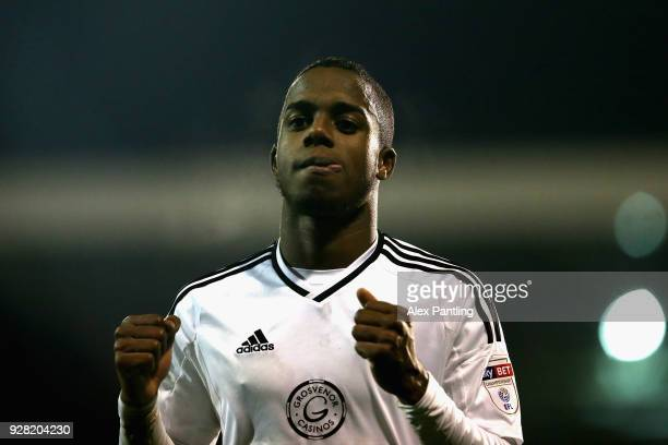 Ryan Sessegnon of Fulham celebrtes victory during the Sky Bet Championship match between Fulham and Sheffield United at Craven Cottage on March 6...