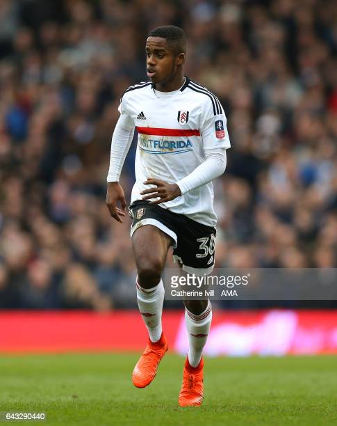 Ryan Sessegnon of Fulham during The Emirates FA Cup Fifth Round match between Fulham and Tottenham Hotspur at Craven Cottage on February 19 2017 in...