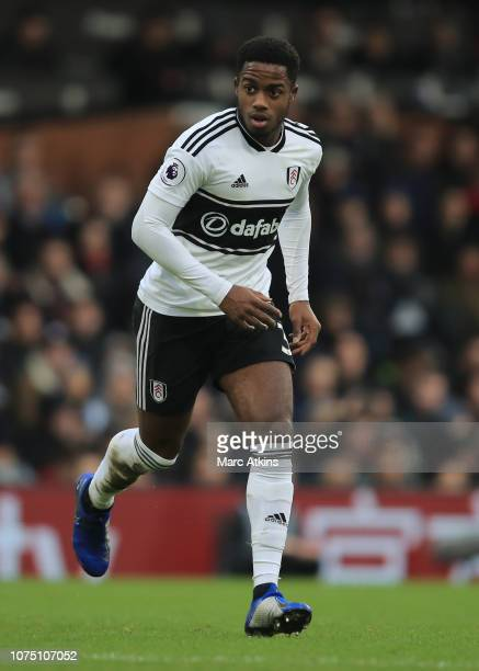 Ryan Sessegnon of Fulham during the Premier League match between Fulham FC and Wolverhampton Wanderers at Craven Cottage on December 26 2018 in...