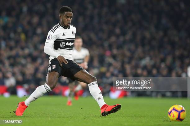 Ryan Sessegnon of Fulham during the Premier League match between Fulham FC and Tottenham Hotspur at Craven Cottage on January 20 2019 in London...