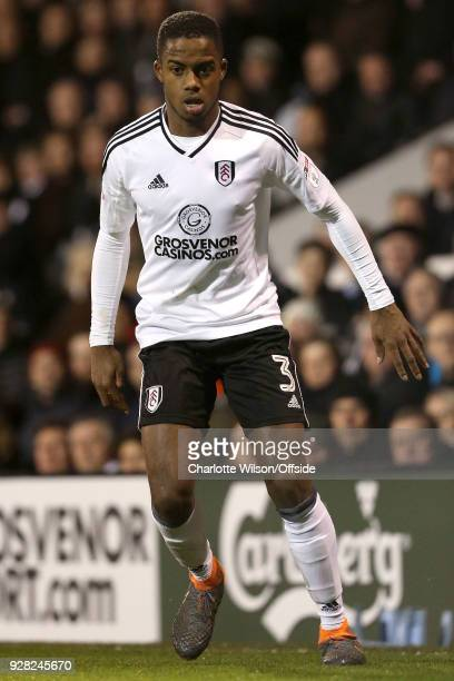 Ryan Sessegnon of Fulham during the Sky Bet Championship match between Fulham and Sheffield United at Craven Cottage on March 6 2018 in London England