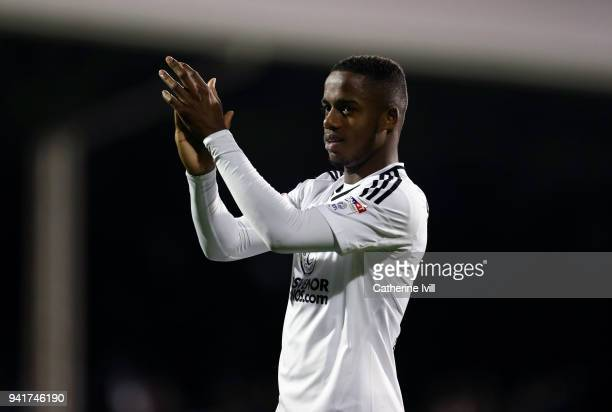 Ryan Sessegnon of Fulham during the Sky Bet Championship match between Fulham and Leeds United at Craven Cottage on April 3 2018 in London England