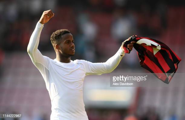 Ryan Sessegnon of Fulham FC applauds the fans during the Premier League match between AFC Bournemouth and Fulham FC at Vitality Stadium on April 20...