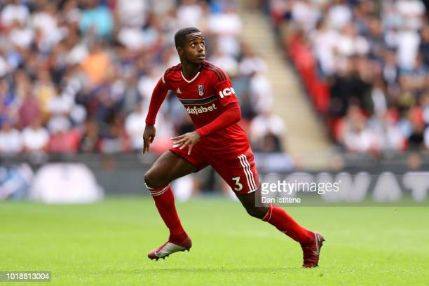 Ryan Sessegnon of Fulham in action during the Premier League match between Tottenham Hotspur and Fulham FC at Wembley Stadium on August 18 2018 in...
