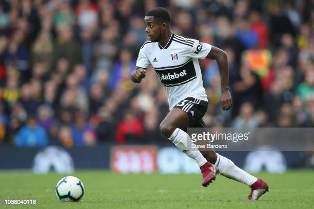 Ryan Sessegnon of Fulham in action during the Premier League match between Fulham FC and Watford FC at Craven Cottage on September 22 2018 in London...