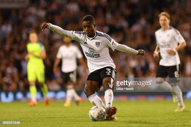 Ryan Sessegnon of Fulham in action during the Sky Bet Championship Play Off Semi FinalSecond Leg match between Fulham and Derby County at Craven...
