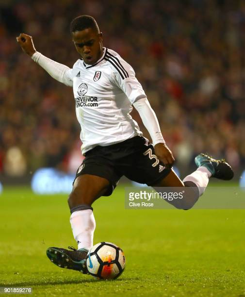 Ryan Sessegnon of Fulham in action during the The Emirates FA Cup Third Round match between Fulham and Southampton at Craven Cottage on January 6...