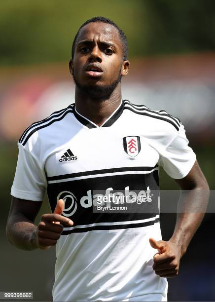 Ryan Sessegnon of Fulham looks on during the preseason friendly between Reading and Fulham at the EBB Stadium on July 14 2018 in Aldershot England