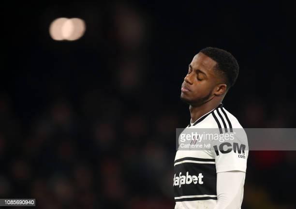 Ryan Sessegnon of Fulham reacts during the Premier League match between Fulham FC and Tottenham Hotspur at Craven Cottage on January 20 2019 in...