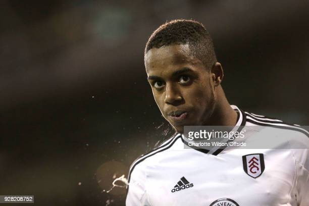 Ryan Sessegnon of Fulham spits during the Sky Bet Championship match between Fulham and Sheffield United at Craven Cottage on March 6 2018 in London...