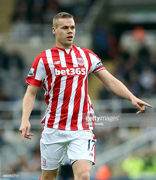 Ryan Shawcross of Stoke City during the Barclays Premier League match between Newcastle United and Stoke City at St James' Park on October 31 2015 in...