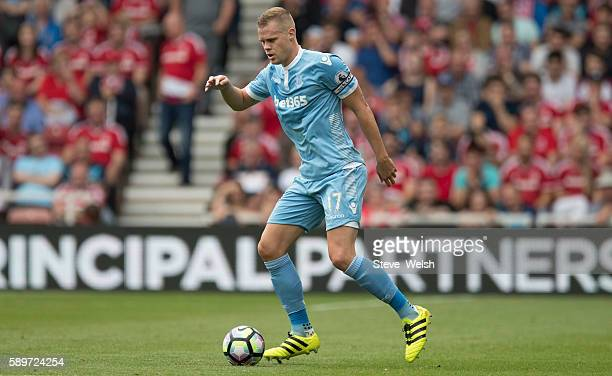 Ryan Shawcross of Stoke City during the Premier League match between Middlesbrough and Stoke City on August 13 2016 in Middlesbrough