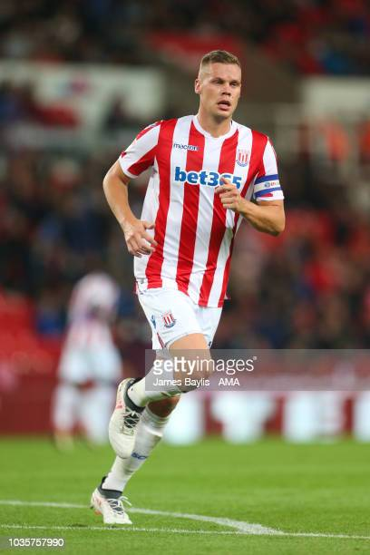 Ryan Shawcross of Stoke City during the Sky Bet Championship match between Stoke City and Swansea City at Bet365 Stadium on September 18 2018 in...