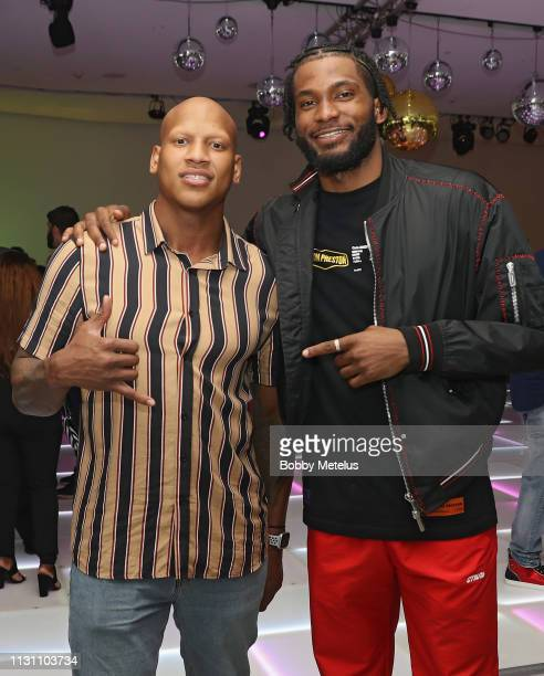 Ryan Shazier and Justise Winslow attend the 6th Annual A Night On The Runwade at Aventura Mall on March 16 2019 in Miami Florida