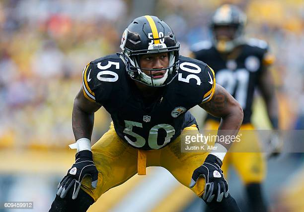 Ryan Shazier of the Pittsburgh Steelers in action against the Cincinnati Bengals at Heinz Field on September 18 2016 in Pittsburgh Pennsylvania