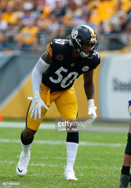 Ryan Shazier of the Pittsburgh Steelers in action against the Minnesota Vikings on September 17 2017 at Heinz Field in Pittsburgh Pennsylvania
