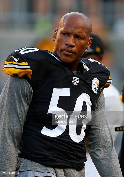 Ryan Shazier of the Pittsburgh Steelers in action during the game against the Philadelphia Eagles on August 18 2016 at Heinz Field in Pittsburgh...
