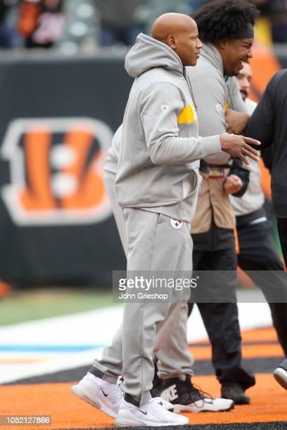 Ryan Shazier of the Pittsburgh Steelers walks on the field during pregame warmups prior to the start of the game against the Cincinnati Bengals at...