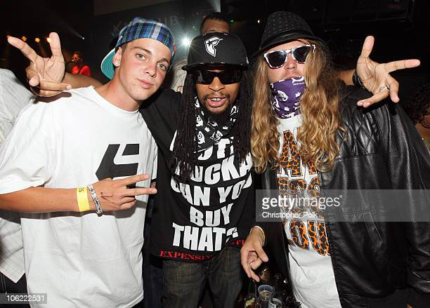 Ryan Sheckler Lil Jon and Dingo during the XGames XIV Kickoff Party hosted by Oakley and New Era held at The Key Club on July 30 2008 in West...