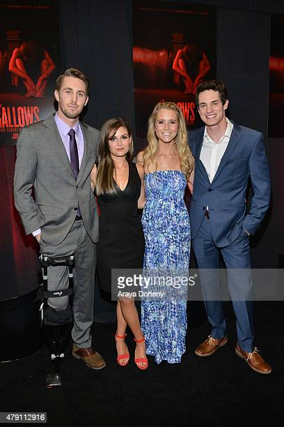 Ryan Shoos Pfeifer Brown Cassidy Gifford and Reese Mishler attend THE GALLOWS Fresno Hometown Screening on June 30 2015 in Fresno California