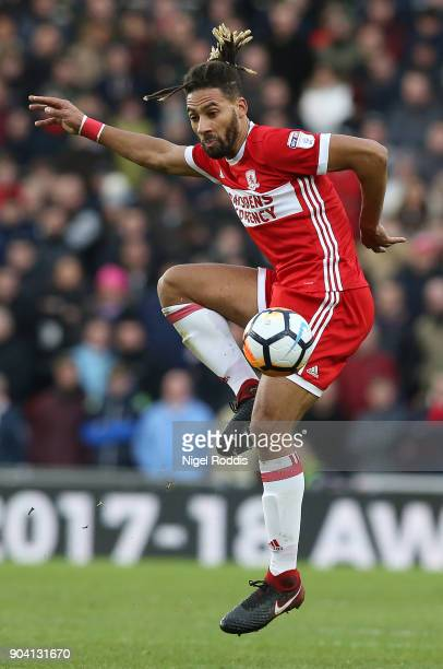 Ryan Shotton of Middlesbrough during The Emirates FA Cup Third Round match between Middlesbrough and Sunderland at the Riverside Stadium on January 6...