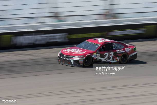 Ryan Sieg driver of the Dr Pepper Toyota races during the Monster Energy Cup Series Firekeepers Casino 400 race on June 18 2017 at Michigan...
