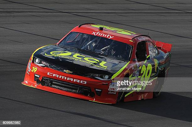 Ryan Sieg driver of the RSS Racing Chevrolet on track during practice for the NASCAR XFINITY Series VysitMyrtleBeachcom 300 at Kentucky Speedway on...