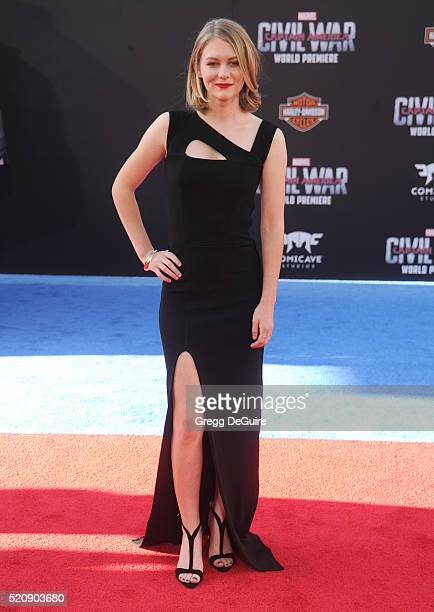 Ryan Simpkins arrives at the premiere of Marvel's 'Captain America Civil War' on April 12 2016 in Hollywood California