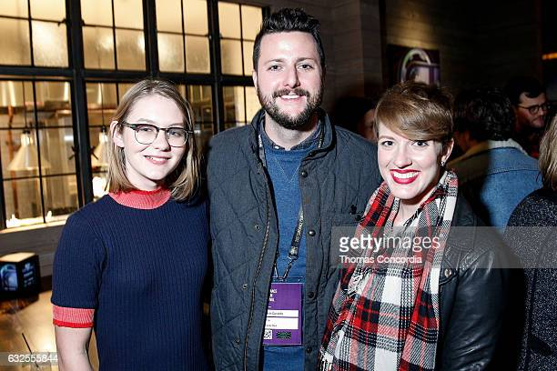 Ryan Simpkins Kevin Costello and guest attend the Kia Supper Suite Hosts World Premiere Party For 'Brigsby Bear' on January 23 2017 in Park City Utah