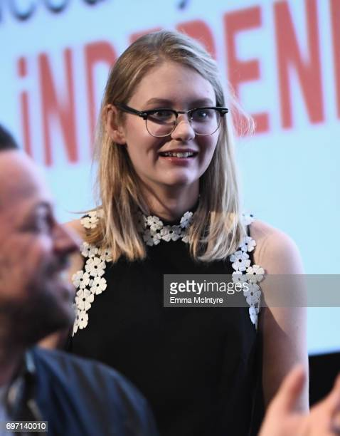 Ryan Simpkins speaks at the 'Izzy Gets The Fuck Across Town' and 'Ok Call Me Back' Premieres during the 2017 Los Angeles Film Festival at Arclight...