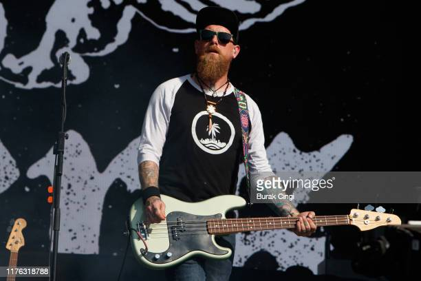 Ryan Sinn of The Distillers performs live on the Main Stage during day three of Reading Festival 2019 at Richfield Avenue on August 25 2019 in...