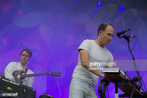 Ryan Smith and Dan Snaith of Caribou performs at Longitude Festival on July 18 2015 in Dublin Ireland