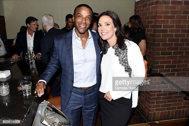 Ryan Smith and Erica Hill attend the CAA TV News Party 2016 at Hudson Bar on September 14, 2016 in New York City.