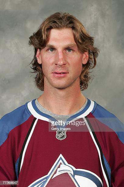 Ryan Smyth of the Colorado Avalanche poses for his 2007 NHL headshot at photo day in Denver Colorado