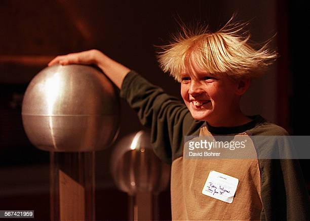 Ryan Solymar of San Jose Street School got to experience the wonders of static electricity as he and his hair become part of an experiment This was...