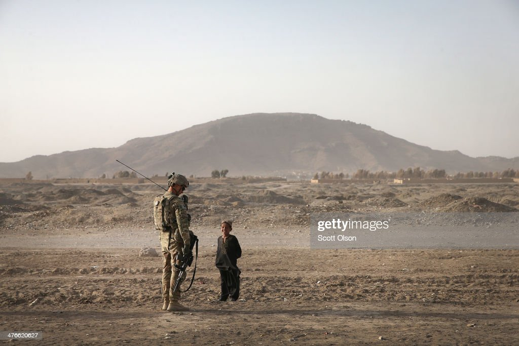 U.S. Soldiers Provide Security Around Kandahar Airfield : News Photo
