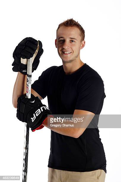 Ryan Spooner of the Boston Bruins poses for an NHLPA The Players Collection portrait at The Westin Harbour Castle hotel on August 27 2012 in Toronto...