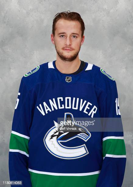 Ryan Spooner of the Vancouver Canucks poses for his official headshot for the 20182019 season on March 15 2019 at Rogers Arena in Vancouver British...