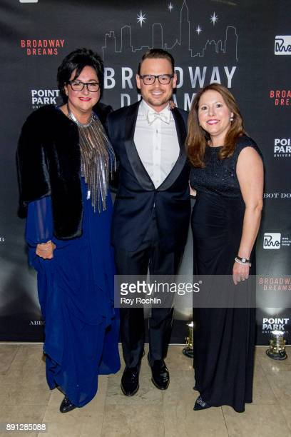 Ryan Stana and Annette Tanner and Elizabeth Falkner attend the10th Annual Broadway Dreams Supper at The Plaza Hotel on December 12 2017 in New York...