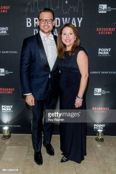 Ryan Stana and Elizabeth Falkner attend the10th Annual Broadway Dreams Supper at The Plaza Hotel on December 12 2017 in New York City