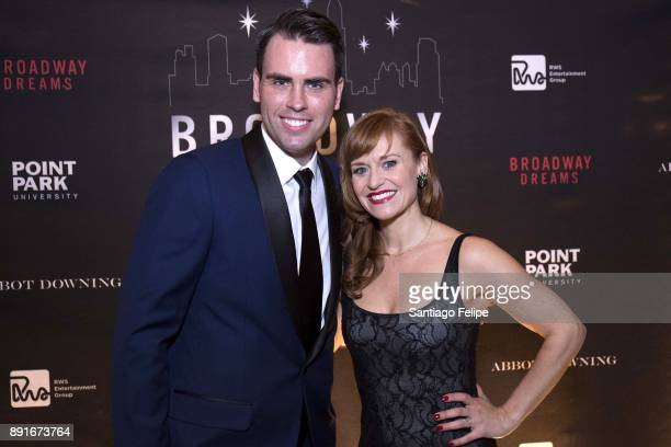 Ryan Stana and Megan Sikora attend the 10th Annual Broadway Dreams Supper at The Plaza Hotel on December 12 2017 in New York City