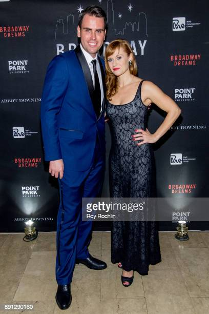 Ryan Stana and Megan Sikora attend the10th Annual Broadway Dreams Supper at The Plaza Hotel on December 12 2017 in New York City