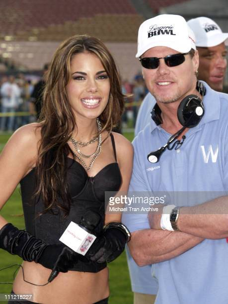 Ryan Starr and Jim McMahon coach of the Los Angeles Temptation