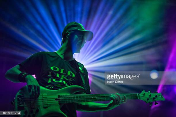 Ryan Stasik of Umphrey's McGee performs at The Lawn at White River State Park on August 11 2018 in Indianapolis Indiana