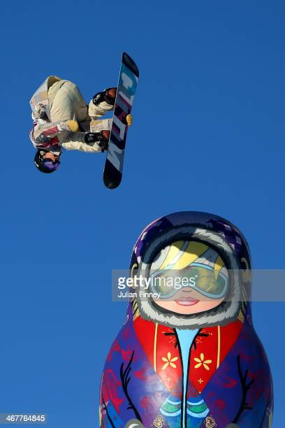 Ryan Stassel of the United States competes during the Snowboard Men's Slopestyle Semifinals during day 1 of the Sochi 2014 Winter Olympics at Rosa...