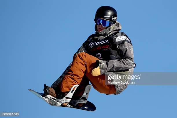 Ryan Stassel of the United States trains for the FIS World Cup 2018 Men's Snowboard Big Air final during the Toyota US Grand Prix on December 10 2017...