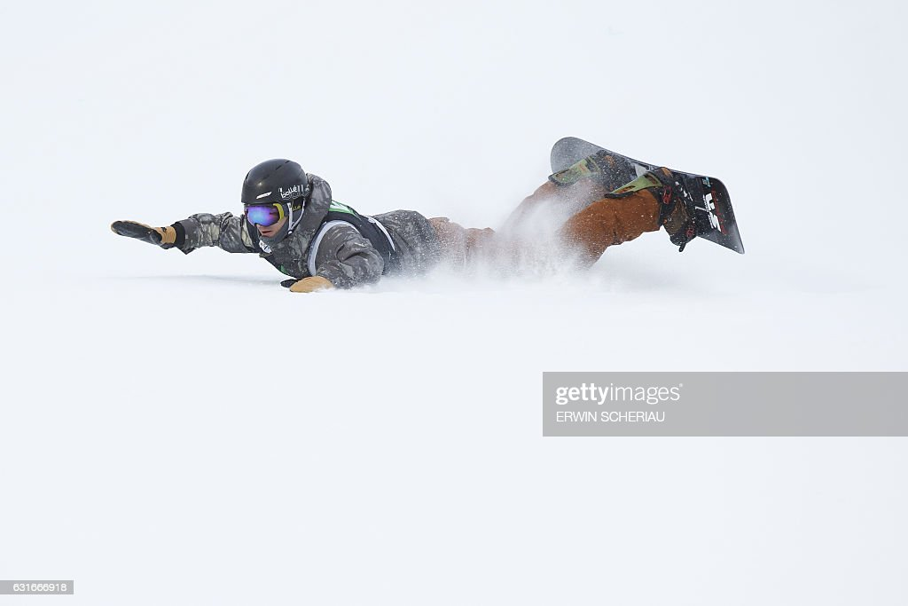 Ryan Stassel of the USA competes during the finals of the Snowboard Worldcup Slopestyle on January 14, 2017, at the Kreischberg in Sankt Georgen ob Murau