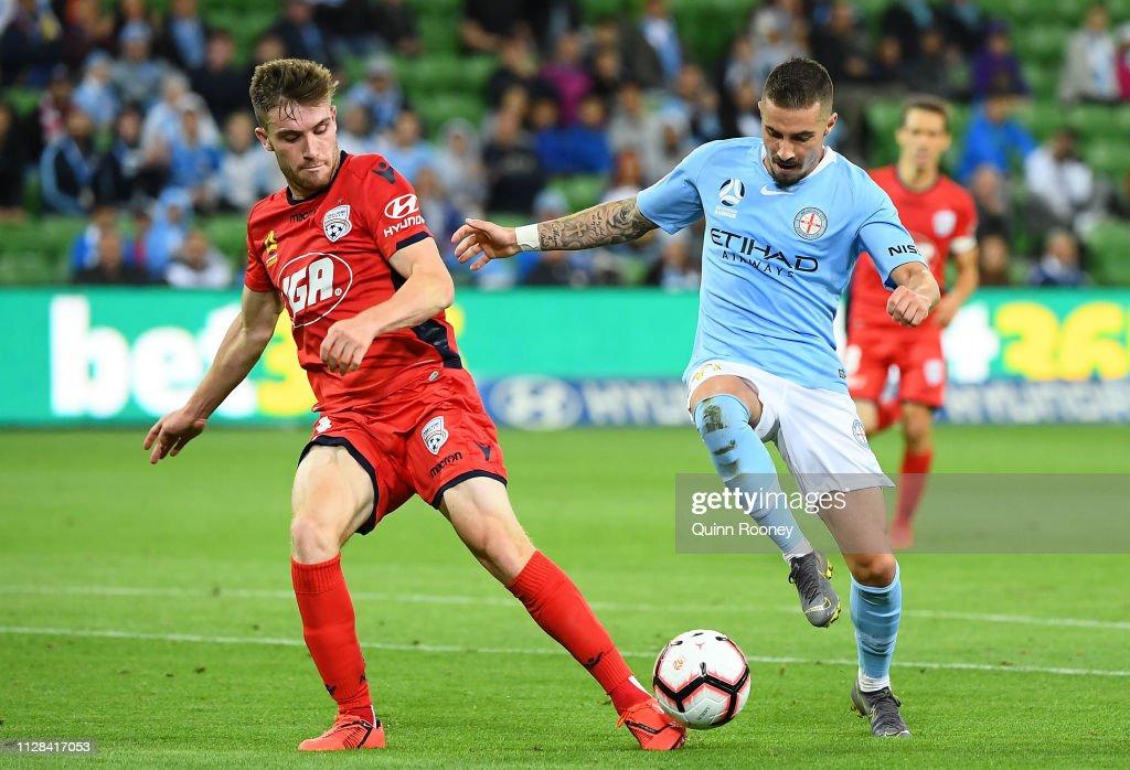 A-League Rd 18 - Melbourne v Adelaide : News Photo